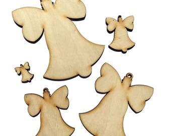 Wooden Christmas Bell Plywood Scrapbooking Embellishment Wedding Decor Gift