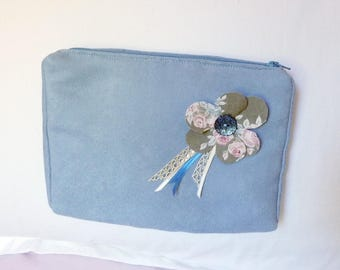 Blue Suede toiletry/makeup/cosmetic