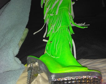 Custom diamond dance shoes
