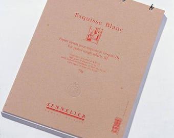 Sketch book - Sennelier - Esquisse (D1) white ( 24 x 32 cm)