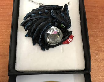 Toothless Night Fury  Necklace handmade