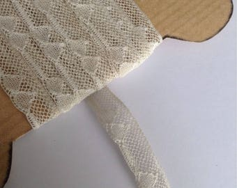 Delicate antique lace triangle pattern