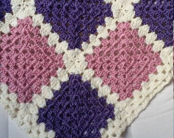 Crochet granny blanket