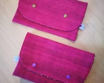 bag fashion cotton and pink print