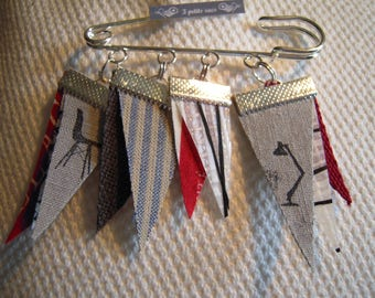 kilt pin brooch sail boat flags, cotton handles, writing, stamps lamp, chairs, sailor, nautical wreaths, flags,.