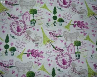 Fabric C512 garden Parisian coupon 35x50cm