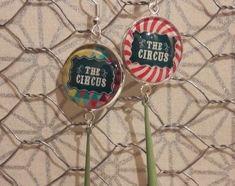 """The Circus"" dangling earrings"