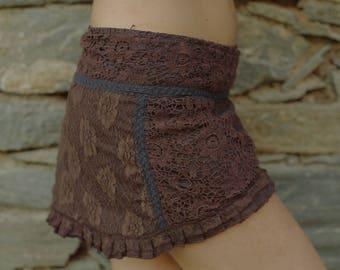 Skirt*crochet*lace*mini Skirt*alternate*festival*fairy*elf*pixie*Unique Skirt