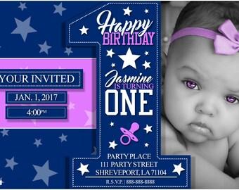 Birthday Invitations ( Turning One )
