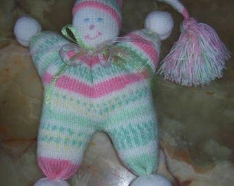 cuddly Pixie pink, green and white