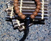 Round Bodhi Bead Bracelet with Black String