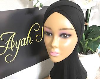 Jersey cotton stretch under Hijab scarf sporty