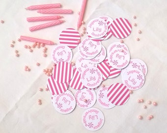 30 large confetti customizable color and choose your message
