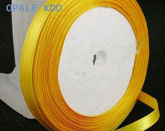 Length 6 mm width 22 m 80 golden yellow satin ribbon