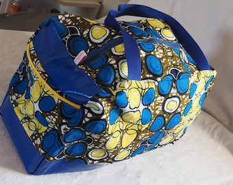 Bag for weekend at Grandma and Grandpa, blue and yellow