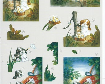 leaf cutting for dogs small 3D cards