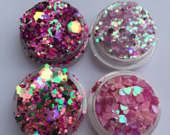 Perfect Pinks Glitter Set