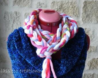 woven multicolored scarf