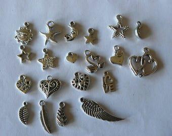 set of 20 charms