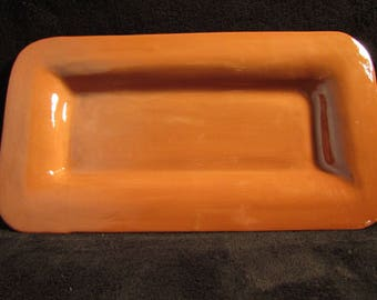 Brown earthenware serving dish