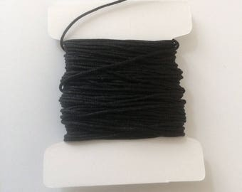 10 meters of nylon string 0.80 mm black for creations of jewels