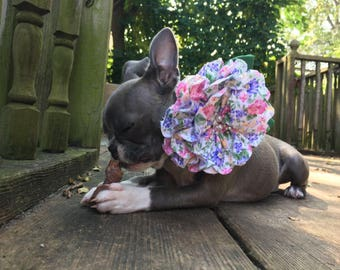 Fabric Flower Pet Collar Accessory