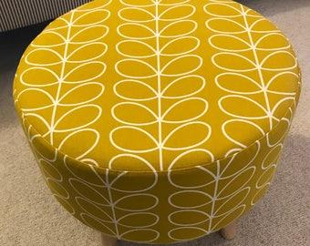Orla Kiely Dandelion Linear Stem Large Footstool 40x40x40cm