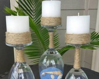 Ocean Glass Candles