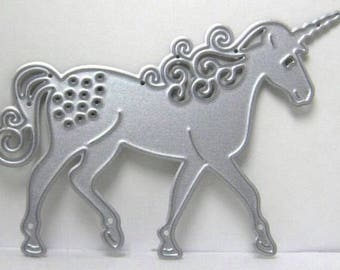Brand new unicorn horse metal die cutter