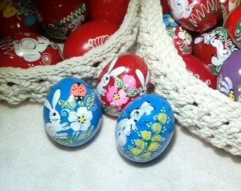 Handpainted Wooden Easter Eggs