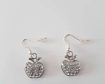 Apple shaped earrings
