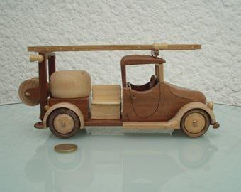 Truck wooden firefighter first response.