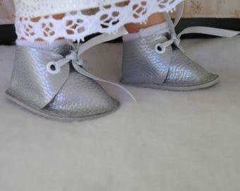 shoes silver Wichtel dolls