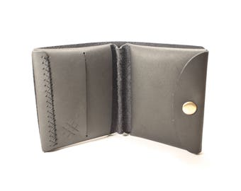 "Leather bifold wallet ""Attic"""