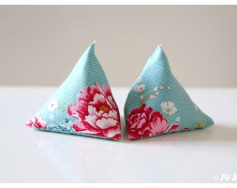 Mini-bouillottes Berlingots pockets - pink Turquoise flower