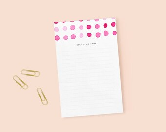 pink dot notepad