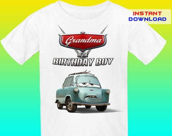 Grandma, Cars Birthday Shirt Iron On Trnafer, Cars Iron On Transfer, Cars Birthday Shirt Design, Digital File Only, Instant Download