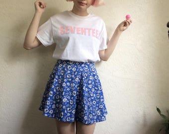 Seventeen t-shirt, kpop merch, rose quartz and serenity