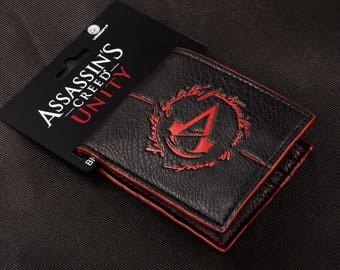 ASSASSINS CREED Wallet PS Movie Leather Console Present Unity
