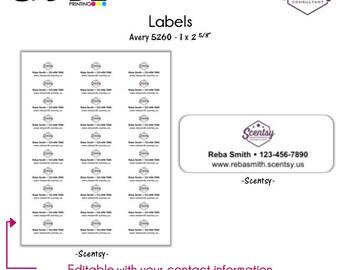 Scentsy Labels - Digital File