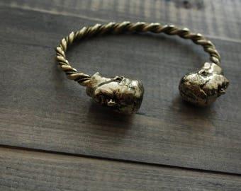 Bronze bracelet with figure of Violence, men's jewelry
