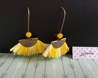 Yellow Bohemian earrings