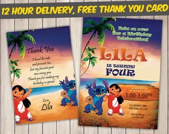Lilo and Stitch Invitation, Lilo and Stitch Birthday, Lilo and Stitch Birthday Invitation, Lilo and Stitch Party, Lilo and Stitch Invite