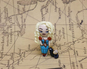 Daenerys Targaryen and his little black pearl Drogo game of Thrones