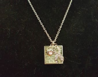 Readers Inspiration Necklace Supporting Breast Cancer Awareness