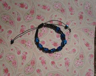 Shamballa bracelet blue and black for men - 50-