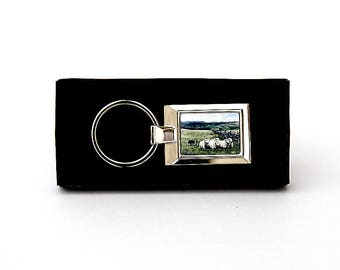 Sheep and Sheepdog Keyring