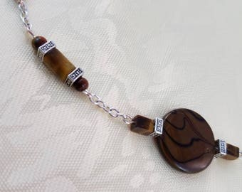 """Gorgeous Tigers Eye Necklace 18"""""""