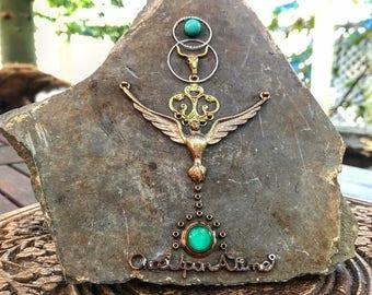Once upon a time jewelled slate piece
