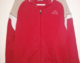 Vtg Kappa retro sweatshirt Jacket / 90s fashion / Size XL